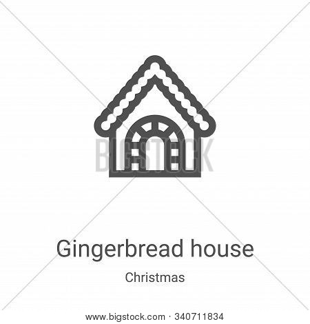 gingerbread house icon isolated on white background from christmas collection. gingerbread house ico