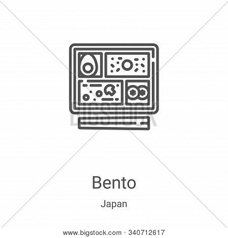 bento icon isolated on white background from japan collection. bento icon trendy and modern bento sy