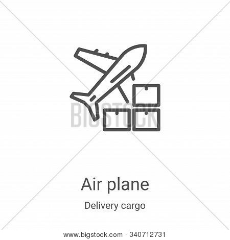 air plane icon isolated on white background from delivery cargo collection. air plane icon trendy an