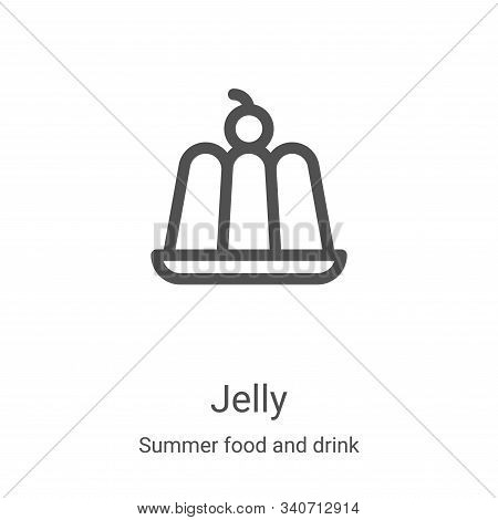 jelly icon isolated on white background from summer food and drink collection. jelly icon trendy and