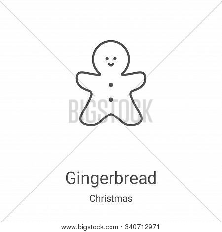 gingerbread icon isolated on white background from christmas collection. gingerbread icon trendy and