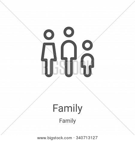 family icon isolated on white background from family collection. family icon trendy and modern famil