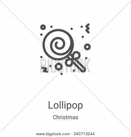 lollipop icon isolated on white background from christmas collection. lollipop icon trendy and moder