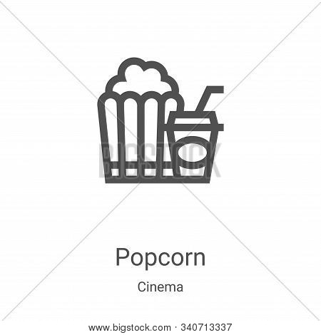 popcorn icon isolated on white background from cinema collection. popcorn icon trendy and modern pop