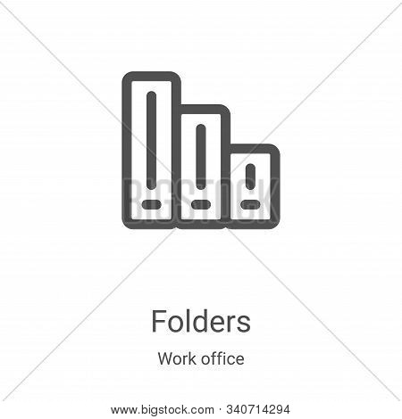 folders icon isolated on white background from work office collection. folders icon trendy and moder