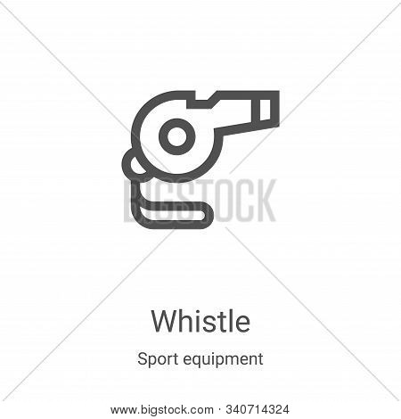 whistle icon isolated on white background from sport equipment collection. whistle icon trendy and m