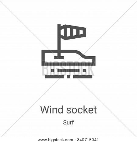 wind socket icon isolated on white background from surf collection. wind socket icon trendy and mode