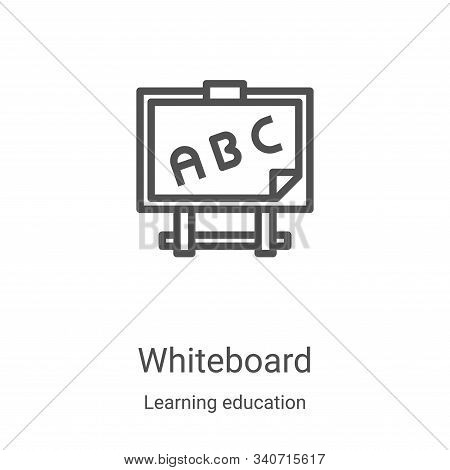 whiteboard icon isolated on white background from learning education collection. whiteboard icon tre