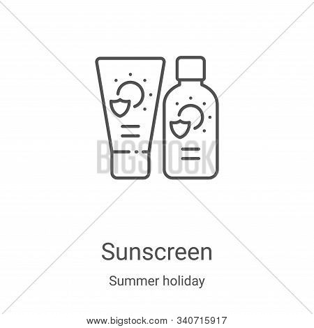 sunscreen icon isolated on white background from summer holiday collection. sunscreen icon trendy an