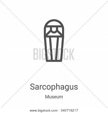 sarcophagus icon isolated on white background from museum collection. sarcophagus icon trendy and mo