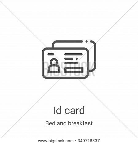id card icon isolated on white background from bed and breakfast collection. id card icon trendy and