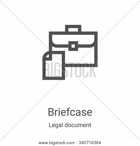 briefcase icon isolated on white background from legal document collection. briefcase icon trendy an