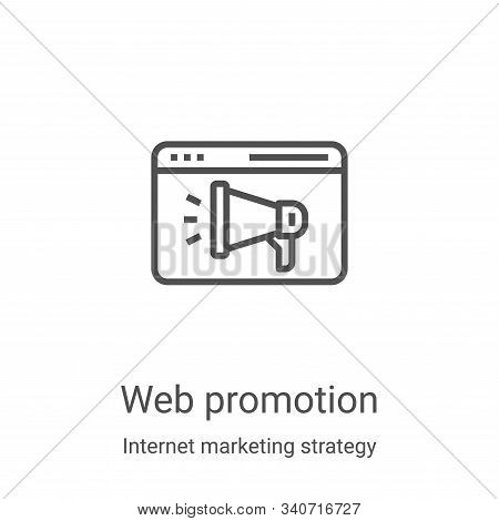 web promotion icon isolated on white background from internet marketing strategy collection. web pro