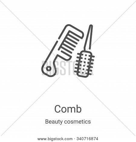 comb icon isolated on white background from beauty cosmetics collection. comb icon trendy and modern
