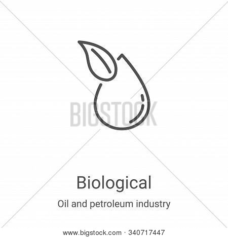 biological icon isolated on white background from oil and petroleum industry collection. biological