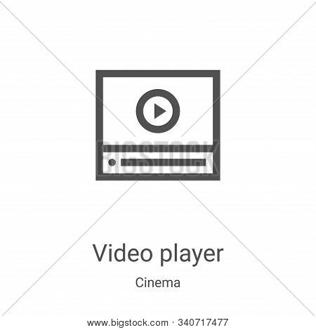 video player icon isolated on white background from cinema collection. video player icon trendy and