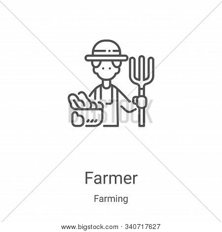 farmer icon isolated on white background from farming collection. farmer icon trendy and modern farm