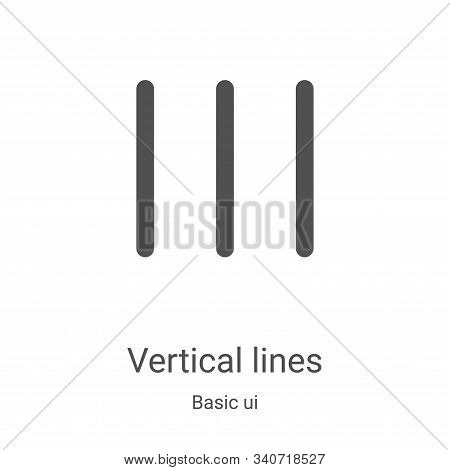 vertical lines icon isolated on white background from basic ui collection. vertical lines icon trend
