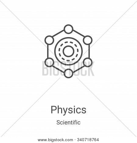 physics icon isolated on white background from scientific collection. physics icon trendy and modern