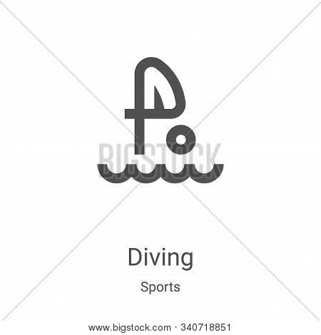 diving icon isolated on white background from sports collection. diving icon trendy and modern divin