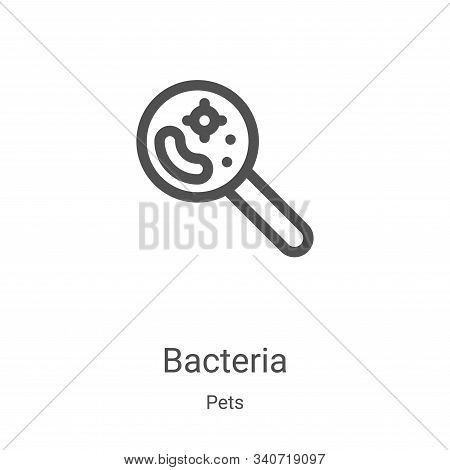 bacteria icon isolated on white background from pets collection. bacteria icon trendy and modern bac
