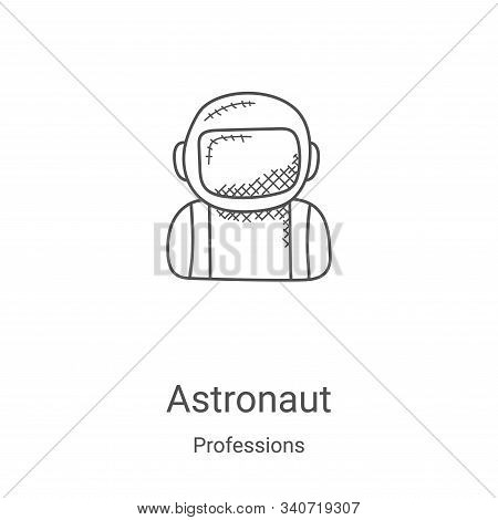 astronaut icon isolated on white background from professions collection. astronaut icon trendy and m