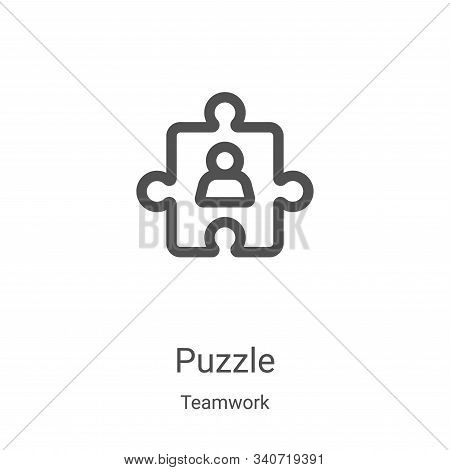 puzzle icon isolated on white background from teamwork collection. puzzle icon trendy and modern puz
