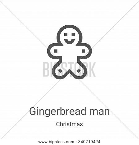 gingerbread man icon isolated on white background from christmas collection. gingerbread man icon tr
