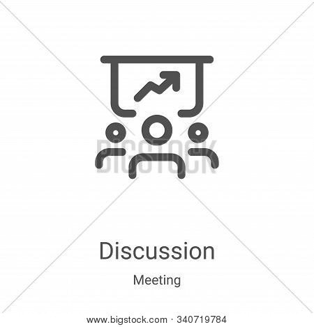 discussion icon isolated on white background from meeting collection. discussion icon trendy and mod