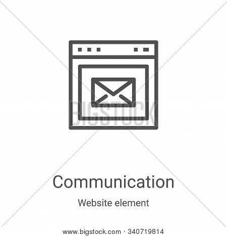 communication icon isolated on white background from website element collection. communication icon
