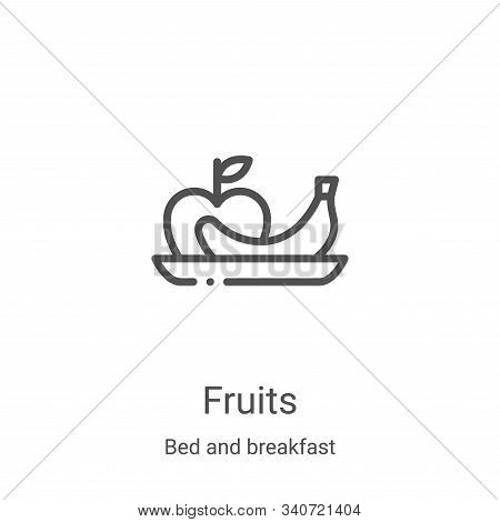 fruits icon isolated on white background from bed and breakfast collection. fruits icon trendy and m