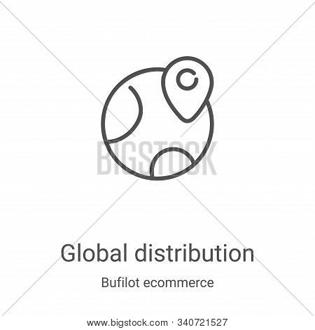 global distribution icon isolated on white background from bufilot ecommerce collection. global dist