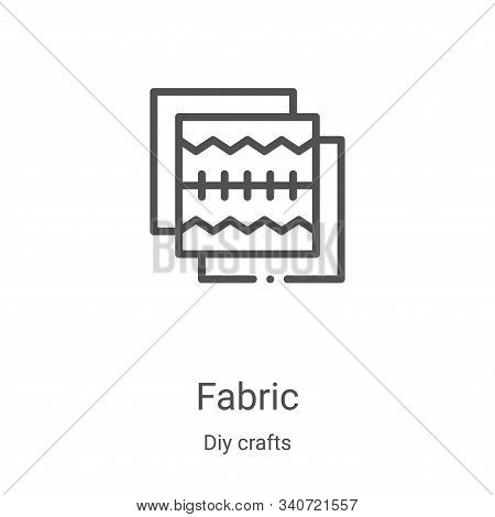 fabric icon isolated on white background from diy crafts collection. fabric icon trendy and modern f