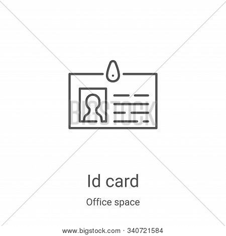 id card icon isolated on white background from office space collection. id card icon trendy and mode