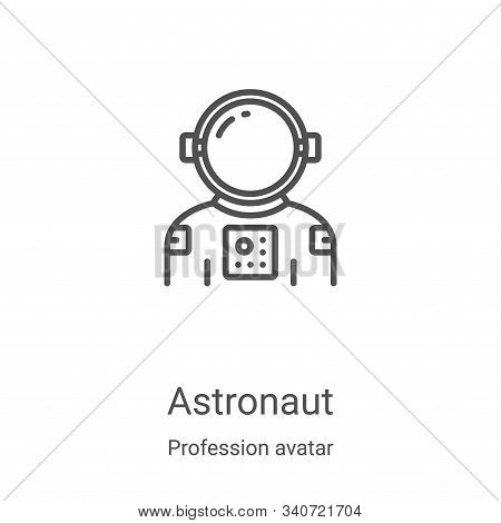 astronaut icon isolated on white background from profession avatar collection. astronaut icon trendy