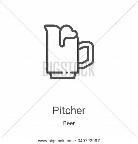 pitcher icon isolated on white background from beer collection. pitcher icon trendy and modern pitch