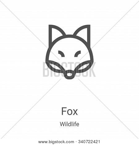 fox icon isolated on white background from wildlife collection. fox icon trendy and modern fox symbo
