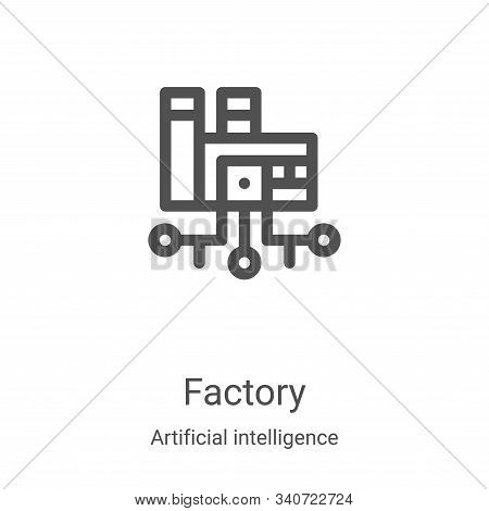 factory icon isolated on white background from artificial intelligence collection. factory icon tren