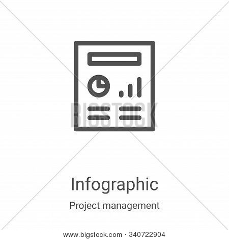 infographic icon isolated on white background from project management collection. infographic icon t