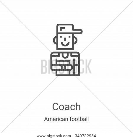 coach icon isolated on white background from american football collection. coach icon trendy and mod