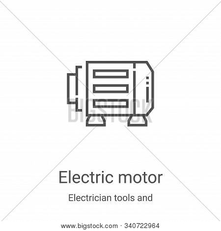 electric motor icon isolated on white background from electrician tools and elements collection. ele