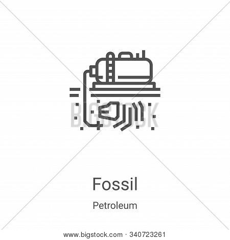 fossil icon isolated on white background from petroleum collection. fossil icon trendy and modern fo