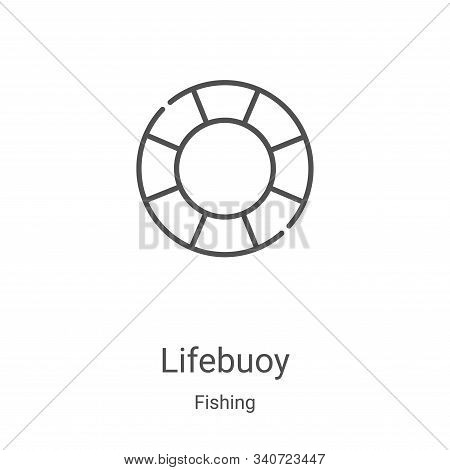 lifebuoy icon isolated on white background from fishing collection. lifebuoy icon trendy and modern
