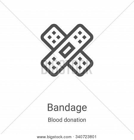 bandage icon isolated on white background from blood donation collection. bandage icon trendy and mo