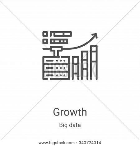 growth icon isolated on white background from big data collection. growth icon trendy and modern gro