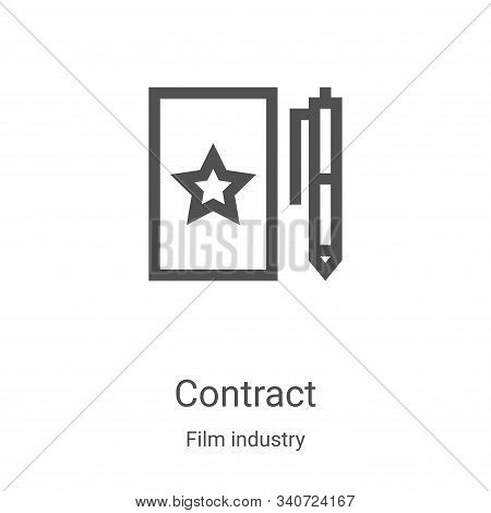 contract icon isolated on white background from film industry collection. contract icon trendy and m