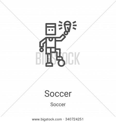 soccer icon isolated on white background from soccer collection. soccer icon trendy and modern socce