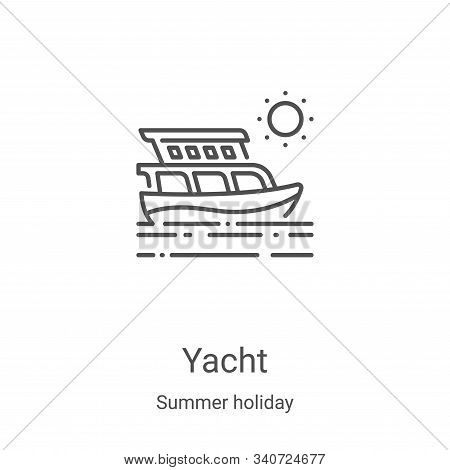 yacht icon isolated on white background from summer holiday collection. yacht icon trendy and modern