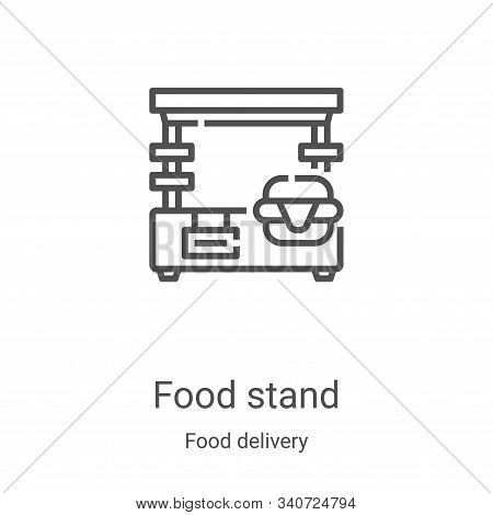 food stand icon isolated on white background from food delivery collection. food stand icon trendy a