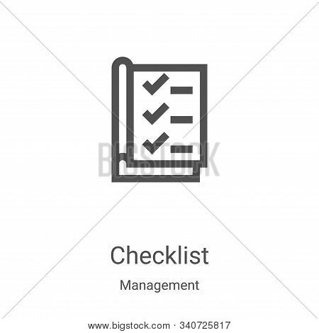 checklist icon isolated on white background from management collection. checklist icon trendy and mo